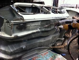 Очистка кузова автомобиля криобластингом