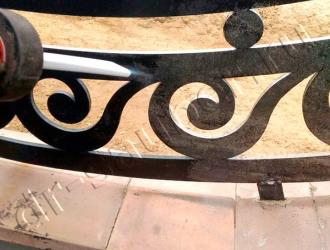 Очистка уличных металлоконструкций криобластингом