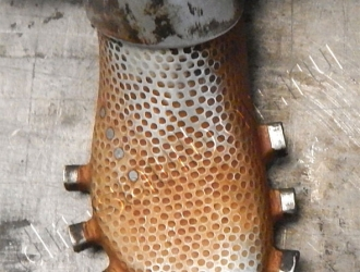 Очистка обувных пресс-форм сухим льдом (До)