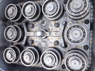 Очистка формы для литья (фото формы До очистки)