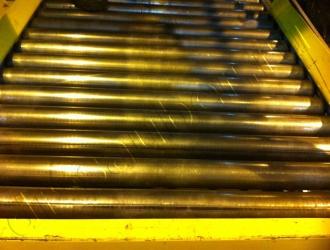 Очистка конвейерных линий методом криобластинга (после)
